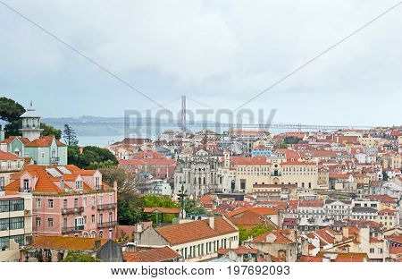 The Cityscape Of Old Lisbon
