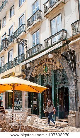 Cafe A Brasileira In Lisbon
