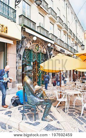 Iconic Cafe A Brasileira In Lisbon