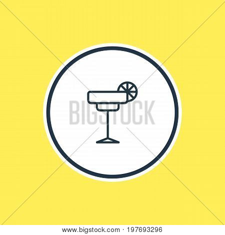 Beautiful Banquet Element Also Can Be Used As Martini Element.  Vector Illustration Of Cocktail Outline.