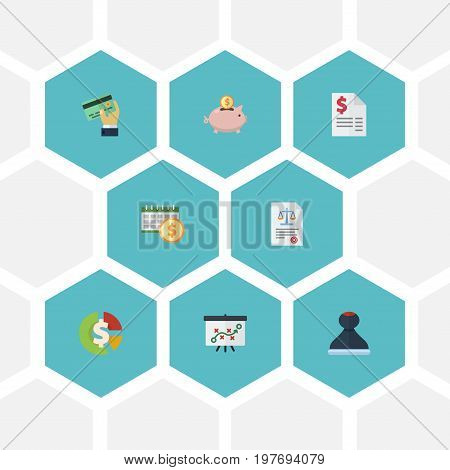 Flat Icons Deadline, Duty, Mark And Other Vector Elements