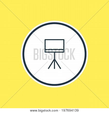 Beautiful Trade Element Also Can Be Used As Board Stand Element.  Vector Illustration Of Presentation Outline.