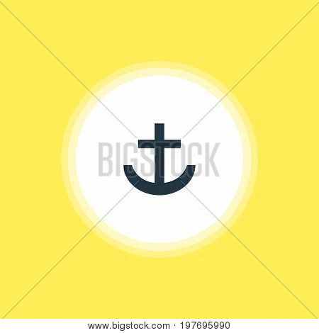 Beautiful Check-In Element Also Can Be Used As Anchor Element.  Vector Illustration Of Harbor Icon.
