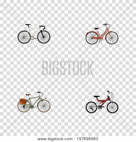 Realistic Retro, Adolescent, Road Velocity And Other Vector Elements