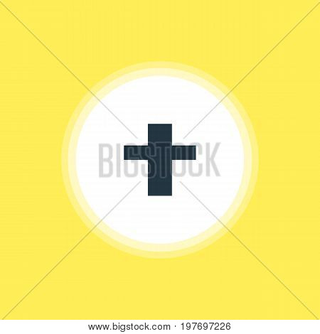 Beautiful Location Element Also Can Be Used As Cross Element.  Vector Illustration Of Religion Icon.