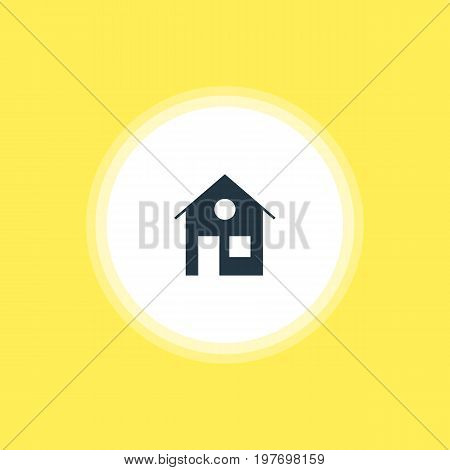 Beautiful Internet Element Also Can Be Used As House Element.  Vector Illustration Of Home Icon.