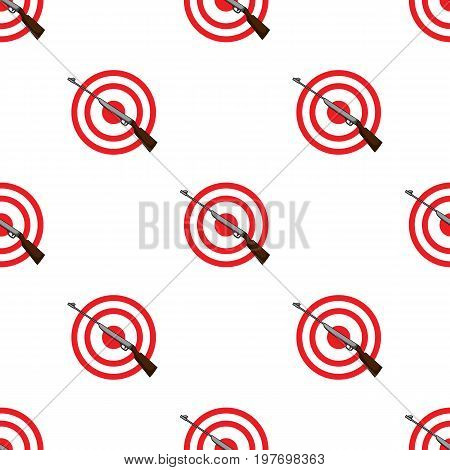 Weapon and target. Shooting gallery in an amusement park.Amusement park single icon in cartoon style vector symbol stock web illustration.