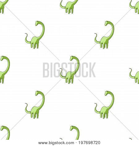 Cute Monster kids logo monster .A green dinosaur in an amusement park. Jurassic Park.Amusement park single icon in cartoon style vector symbol stock web illustration.
