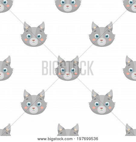 Wolf muzzle icon in cartoon design isolated on white background. Animal muzzle symbol stock vector illustration.