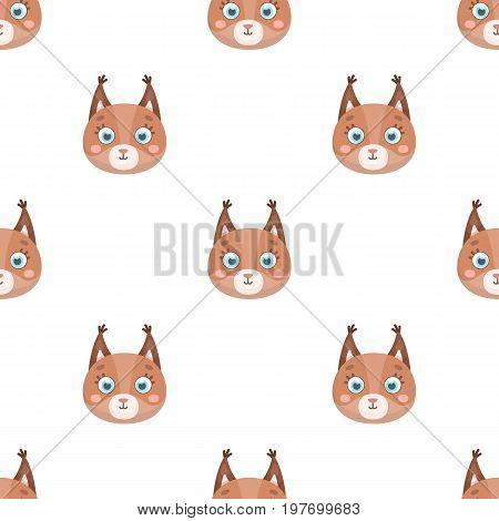 Squirrel muzzle icon in cartoon design isolated on white background. Animal muzzle symbol stock vector illustration.