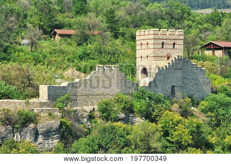 The medieval town Veliko Tarnovo with the stronghold Tsarevets, Bulgaria