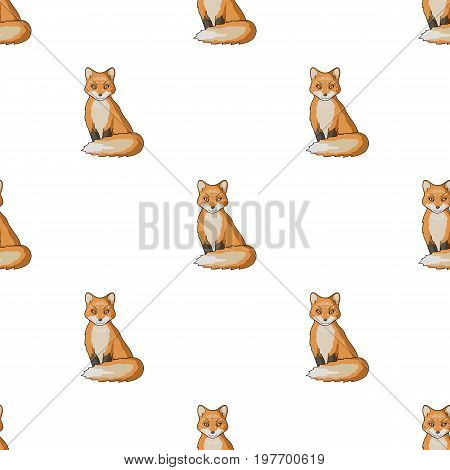 Red fox.Animals single icon in cartoon style vector symbol stock illustration .