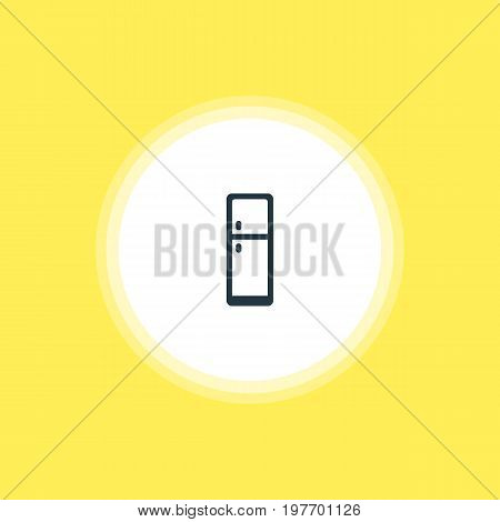 Beautiful Kitchenware Element Also Can Be Used As Refrigerator  Element.  Vector Illustration Of Fridge Icon.