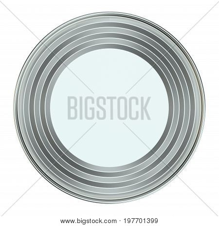 Blank Metal Tin Can. Ready For Your Design. Product Packing. 3D Illustration. Top View