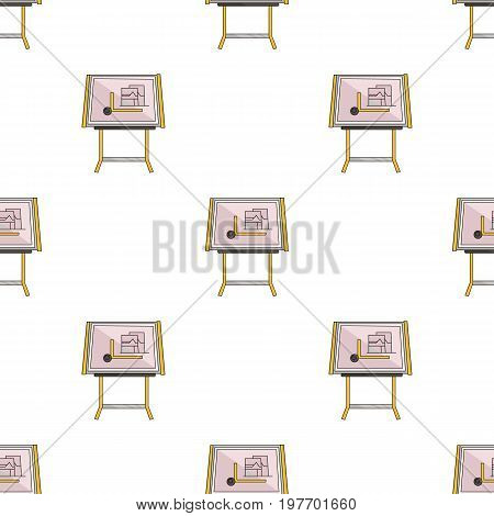 Drawing board icon in cartoon design isolated on white background. Architect symbol stock vector illustration.