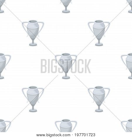 Silver Cup.Award the winner of the competition for second place.Awards and trophies single icon in cartoon style vector symbol stock web illustration.