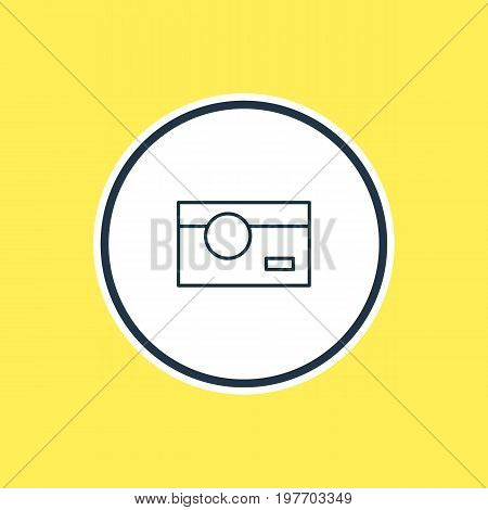 Beautiful Technology Element Also Can Be Used As Photography Element.  Vector Illustration Of Photo Camera Outline.