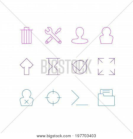 Editable Pack Of Startup, Maintenance, Yes And Other Elements.  Vector Illustration Of 12 UI Icons.