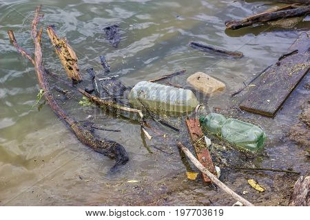 Plastic Bottles And Garbage Waste On The Shore 5