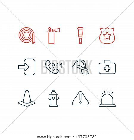 Editable Pack Of Door, Taper, Water And Other Elements.  Vector Illustration Of 12 Extra Icons.