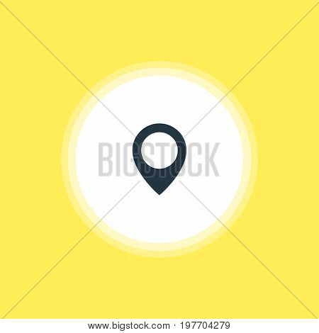 Beautiful Online Element Also Can Be Used As Map Pointer Element.  Vector Illustration Of Location Mark Icon.