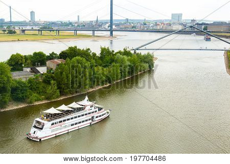 Cruise vessel of the Cologne Dusseldorfer line on river Rhine