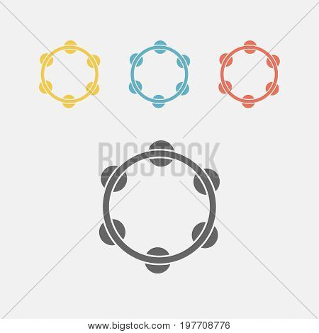 tambourine icon Vector sign for web graphics.