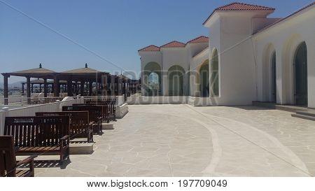 Terrace at the popular resort in Turkey Bodrum