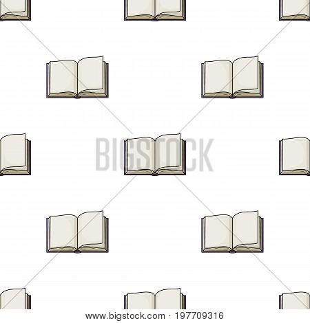 Opened book icon in cartoon design isolated on white background. Books symbol stock vector illustration.