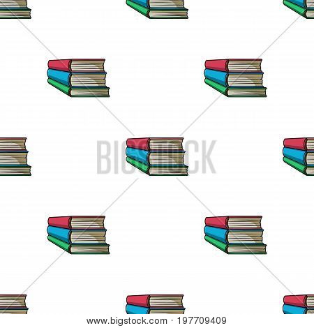 Stack of books icon in cartoon design isolated on white background. Books symbol stock vector illustration.