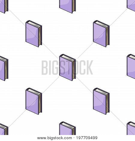 Purple standing book icon in cartoon design isolated on white background. Books symbol stock vector illustration.