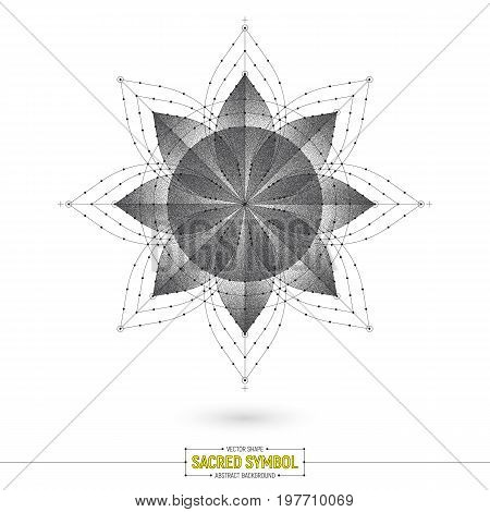 Vector Mandala Esoteric Sacred Symbol Art Illustration Isolated on White Background