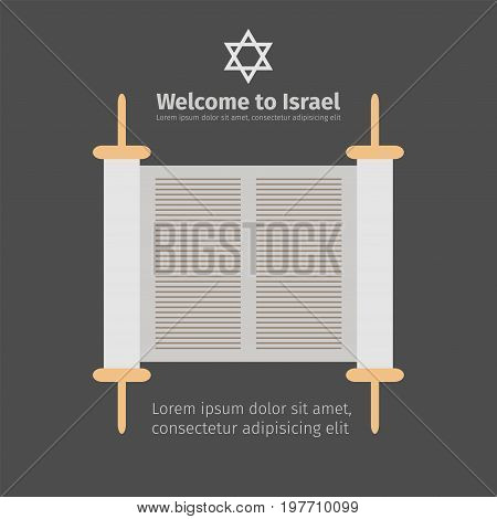 Torah scroll icon. Vector sign for web graphics.