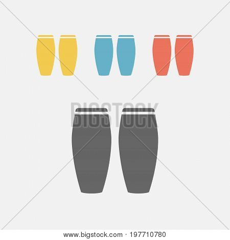 Conga musical instrument. Vector sign for web graphics.