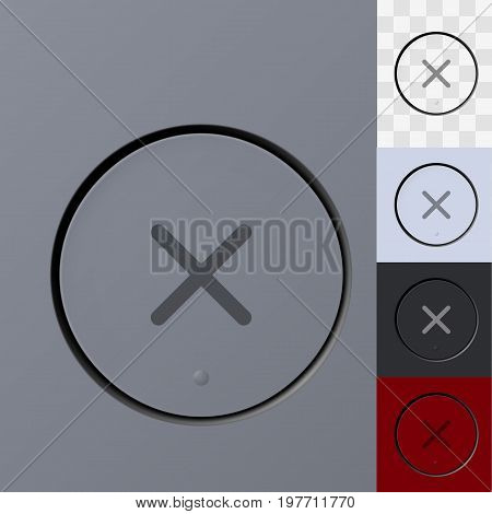 Your Color Cancel Button Template. EPS10 Vector