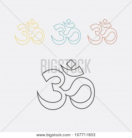 om sign and symbol, Vector sign for web graphics.