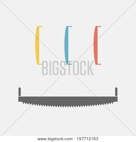 Hand saw isolated Vector sign for web graphics.