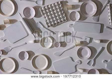 Cooking tools and kitchen utensil for background.