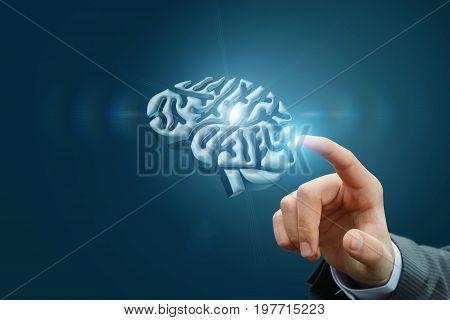 Hand Clicks The Brain Model .