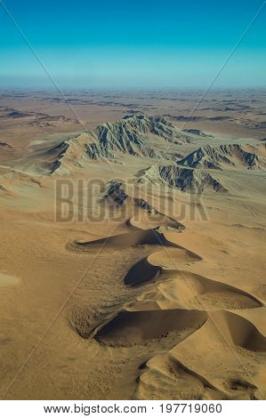 Namib-Naukluft National Park desert view from the air Namibia