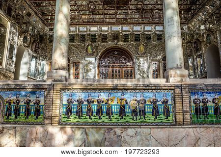 Edifice of the Sun part of Golestan Palace in Tehran capital of Iran