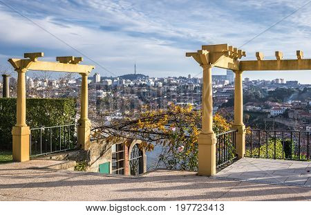 Pergola in Crystal Palace Gardens of Porto Portugal