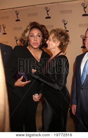 BEVERLY HILLS - JAN 20:  Diahann Carroll; Cloris Leachman arrive at the ATAS Hall of Fame Committee's 20th Annual Induction Gala at Beverly Hills Hotel on January 20, 2011 in Beverly Hills, CA