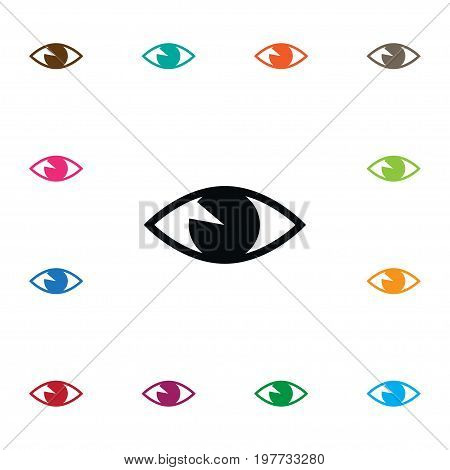 See Vector Element Can Be Used For See, Eye, Vision Design Concept.  Isolated Vision Icon.