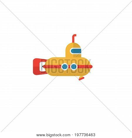 Periscope Vector Element Can Be Used For Periscope, Submarine, Underwater Design Concept.  Isolated Submarine Flat Icon.