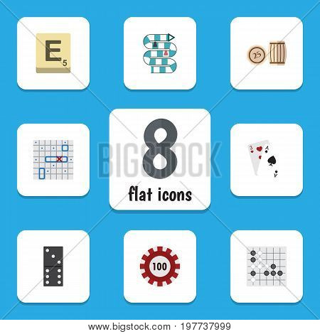 Flat Icon Entertainment Set Of Mahjong, Poker, Multiplayer And Other Vector Objects