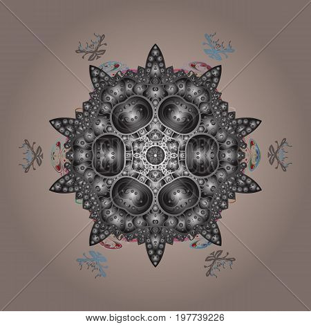 Isolated nice snowflakes on colorful background.Vector illustration. Snowflakes radial background.