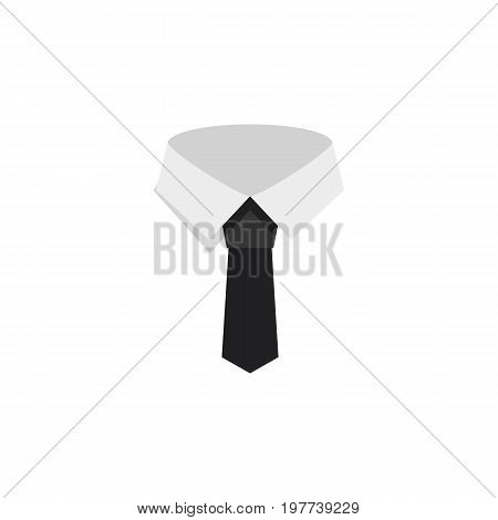 Textile Vector Element Can Be Used For Cravat, Textile, Collar Design Concept.  Isolated Cravat Flat Icon.