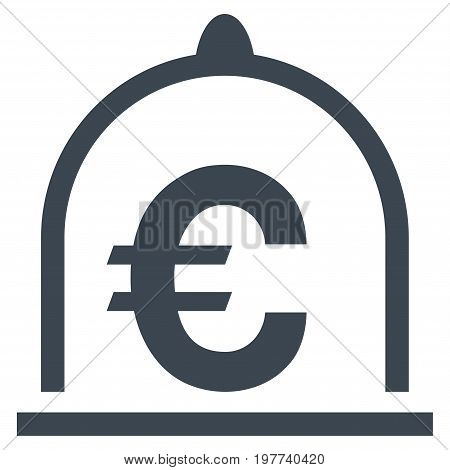 Euro Standard vector icon. Flat smooth blue symbol. Pictogram is isolated on a white background. Designed for web and software interfaces.