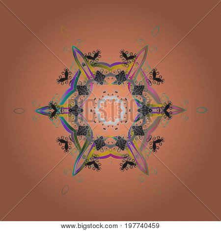 Vector winter pattern. Abstract background with Floral Elements. Vector illustration. Design on colorful background.
